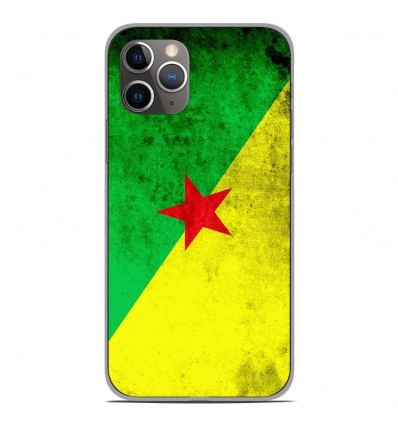 Coque en silicone Apple iPhone 11 Pro - Drapeau Guyane