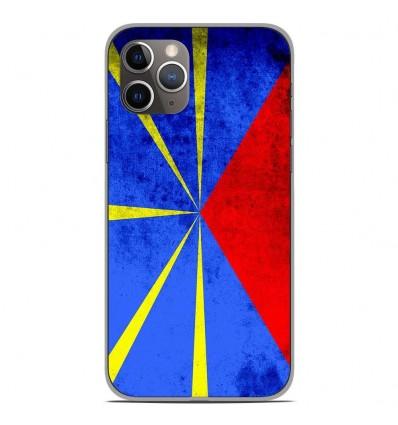 Coque en silicone Apple iPhone 11 Pro - Drapeau La Réunion