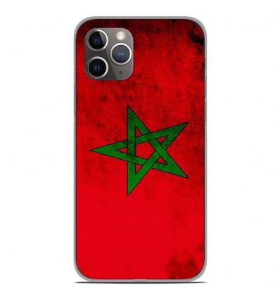 Coque en silicone Apple iPhone 11 Pro - Drapeau Maroc