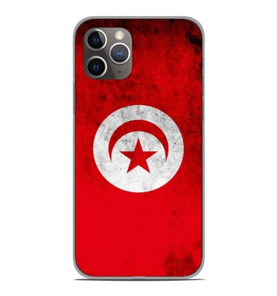 Coque en silicone Apple iPhone 11 Pro - Drapeau Tunisie