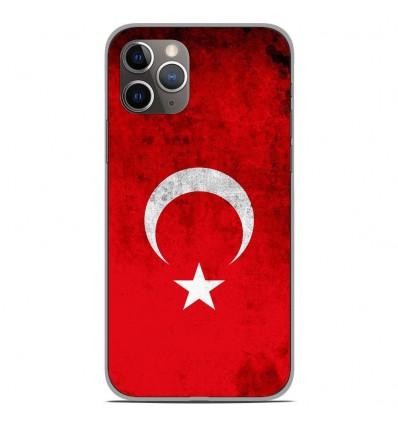 Coque en silicone Apple iPhone 11 Pro - Drapeau Turquie