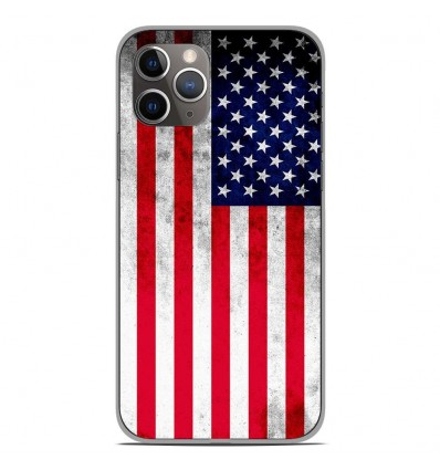 Coque en silicone Apple iPhone 11 Pro - Drapeau USA