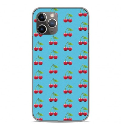 Coque en silicone Apple iPhone 11 Pro - Cerise Bleu