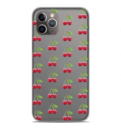 Coque en silicone Apple iPhone 11 Pro - Cerises Gris