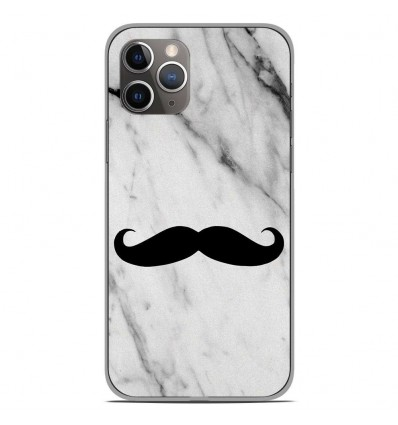 Coque en silicone Apple iPhone 11 Pro - Hipster Moustache