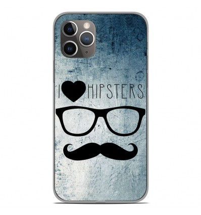Coque en silicone Apple iPhone 11 Pro - I Love Hipster