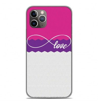 Coque en silicone Apple iPhone 11 Pro - Love Rose
