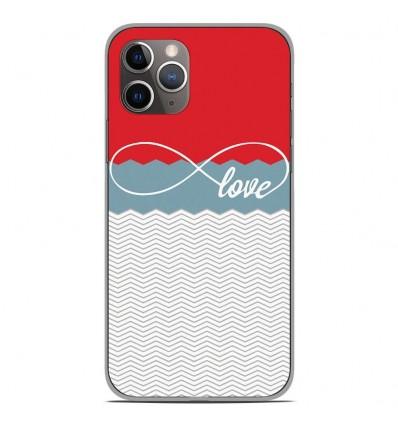 Coque en silicone Apple iPhone 11 Pro - Love Rouge