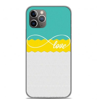 Coque en silicone Apple iPhone 11 Pro - Love Turquoise
