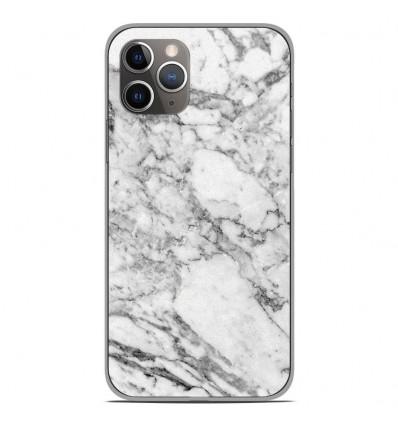 Coque en silicone Apple iPhone 11 Pro - Marbre Blanc