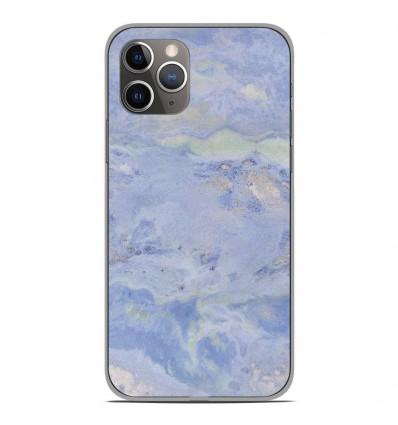 Coque en silicone Apple iPhone 11 Pro - Marbre Bleu