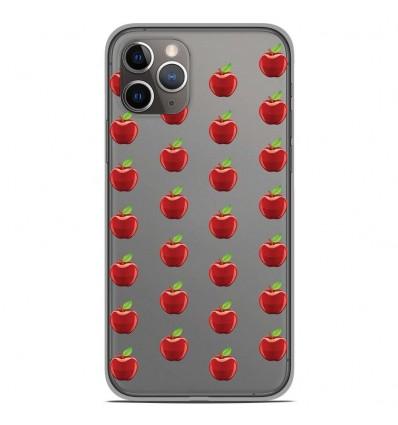 Coque en silicone Apple iPhone 11 Pro - Pommes Gris
