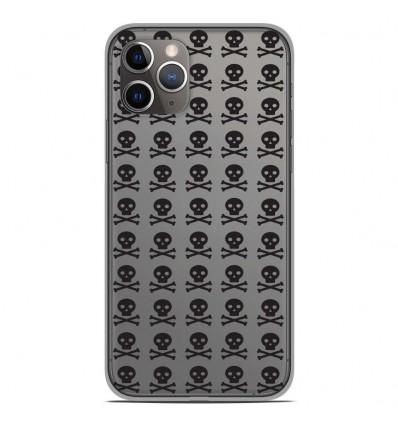 Coque en silicone Apple iPhone 11 Pro - Skull Noir