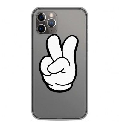 Coque en silicone Apple iPhone 11 Pro - Swag Hand Blanc
