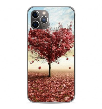 Coque en silicone Apple iPhone 11 Pro - Arbre Love