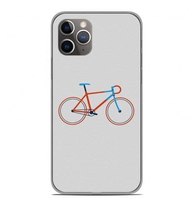 Coque en silicone Apple iPhone 11 Pro - Bike color Hipster