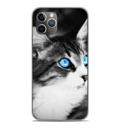 Coque en silicone Apple iPhone 11 Pro - Chat yeux bleu