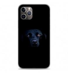 Coque en silicone Apple iPhone 11 Pro - Chien noir