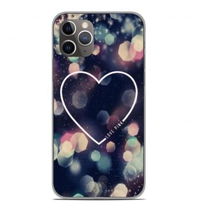 Coque en silicone Apple iPhone 11 Pro - Coeur Love