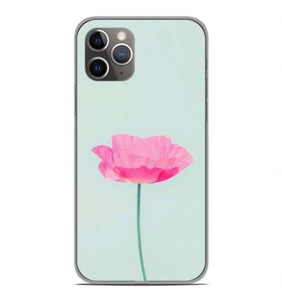 Coque en silicone Apple iPhone 11 Pro - Fleur Rose