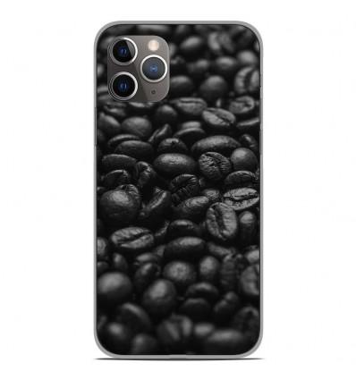 Coque en silicone Apple iPhone 11 Pro - Grains de café