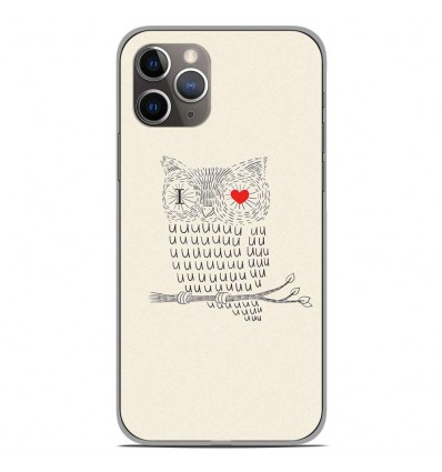 Coque en silicone Apple iPhone 11 Pro - I Love Hiboux