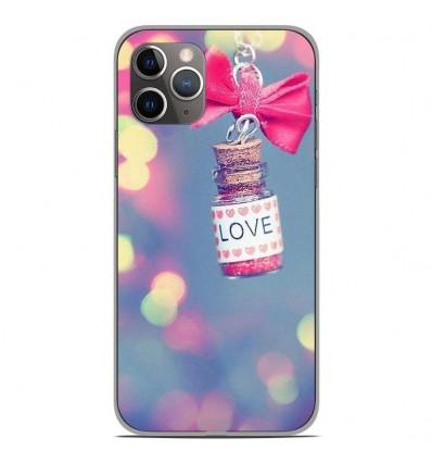Coque en silicone Apple iPhone 11 Pro - Love noeud rose