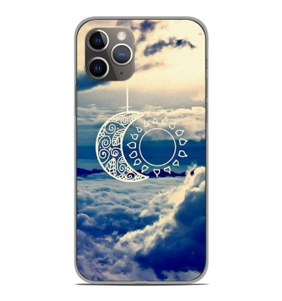 Coque en silicone Apple iPhone 11 Pro - Lune soleil