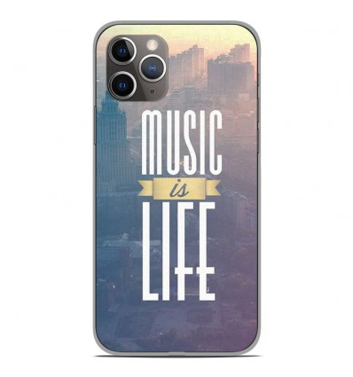 Coque en silicone Apple iPhone 11 Pro - Music is life