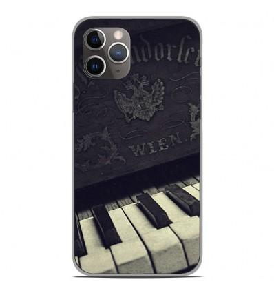 Coque en silicone Apple iPhone 11 Pro - Old piano