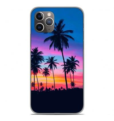 Coque en silicone Apple iPhone 11 Pro - Palmiers colorés