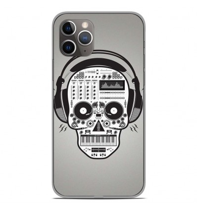 Coque en silicone Apple iPhone 11 Pro - Skull Music