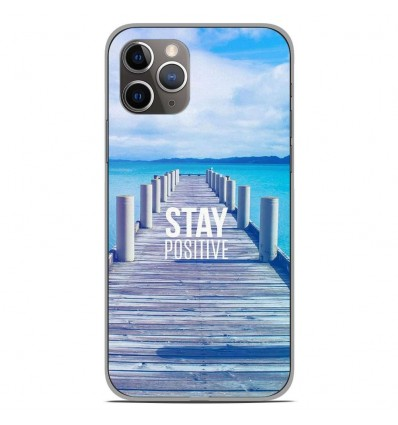 Coque en silicone Apple iPhone 11 Pro - Stay positive