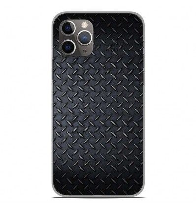 Coque en silicone Apple iPhone 11 Pro - Texture metal