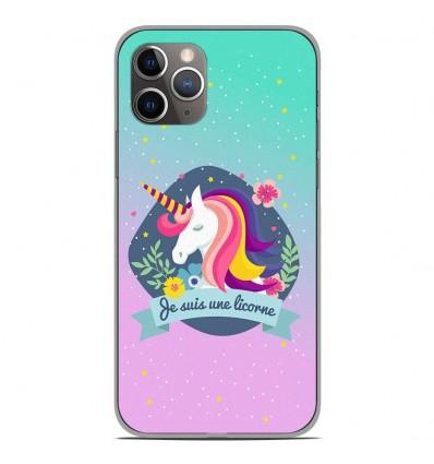 Coque en silicone Apple iPhone 11 Pro - Je suis une licorne