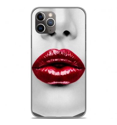 Coque en silicone Apple iPhone 11 Pro - Lèvres Rouges