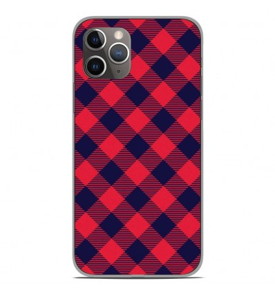 Coque en silicone Apple iPhone 11 Pro - Tartan Rouge