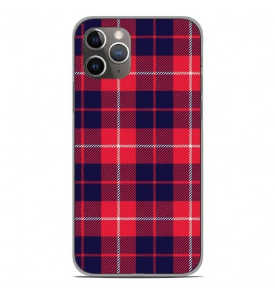 Coque en silicone Apple iPhone 11 Pro - Tartan Rouge 2