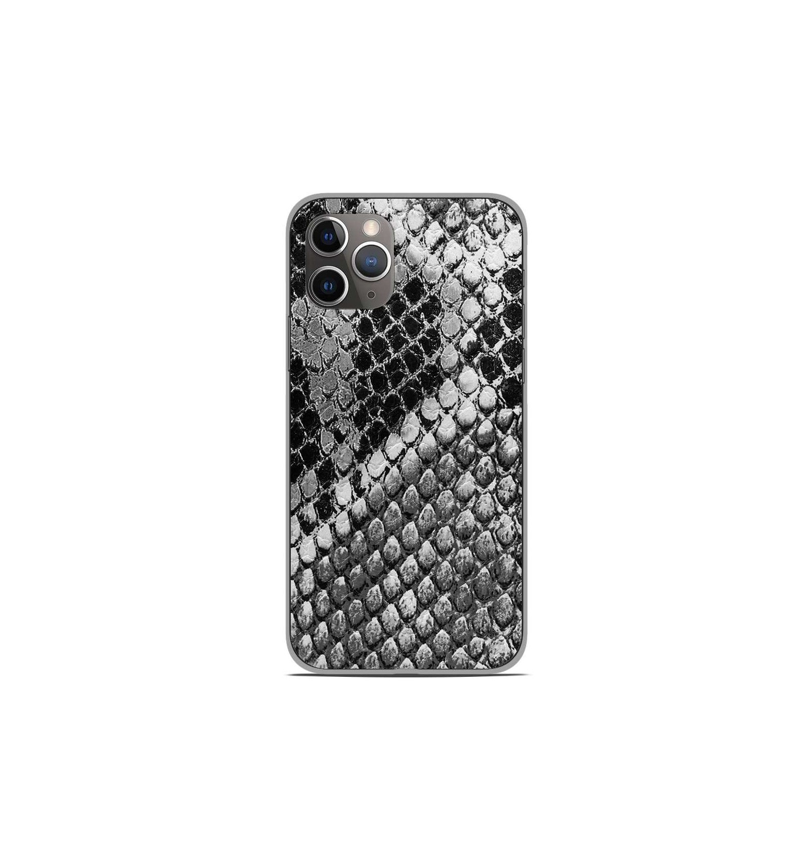 coque en silicone apple iphone 11 pro texture python