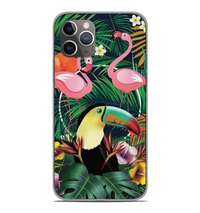 Coque en silicone Apple iPhone 11 Pro - Tropical Toucan