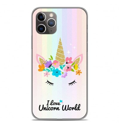 Coque en silicone Apple iPhone 11 Pro - Unicorn World