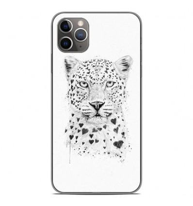 Coque en silicone Apple iPhone 11 Pro Max - BS Love leopard