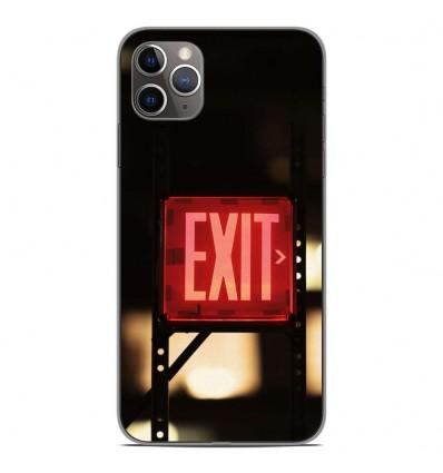 Coque en silicone Apple iPhone 11 Pro Max - Exit