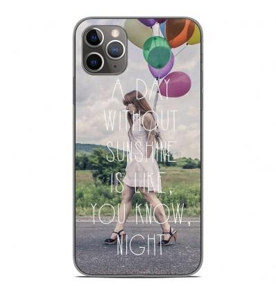 Coque en silicone pour Apple iPhone 11 Pro Max - Woman