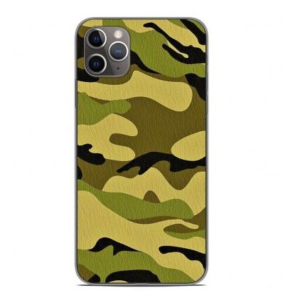 Coque en silicone Apple iPhone 11 Pro Max - Camouflage