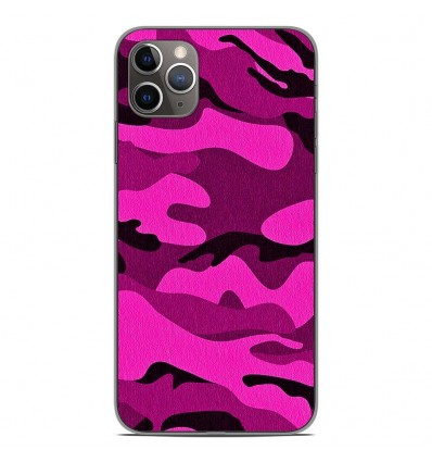 Coque en silicone Apple iPhone 11 Pro Max - Camouflage rose