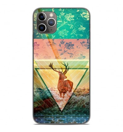 Coque en silicone Apple iPhone 11 Pro Max - Cerf swag