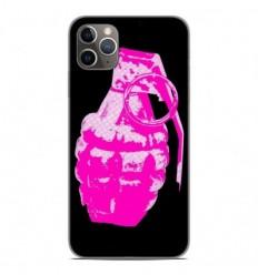 Coque en silicone Apple iPhone 11 Pro Max - Grenade rose