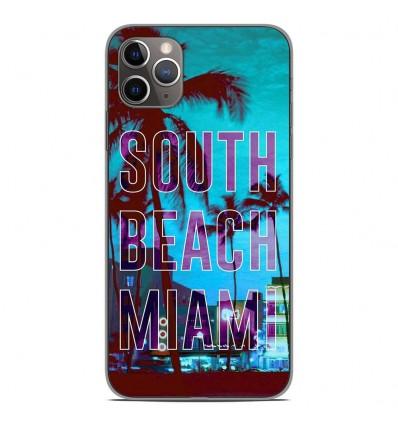 Coque en silicone Apple iPhone 11 Pro Max - South beach miami