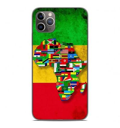 Coque en silicone Apple iPhone 11 Pro Max - Drapeau Africa Unite